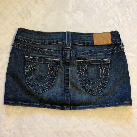 True Religion Dresses & Skirts - True religion mini jean skirt/ 28